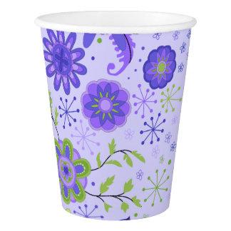 Pretty Purple Flowers Paper Cup