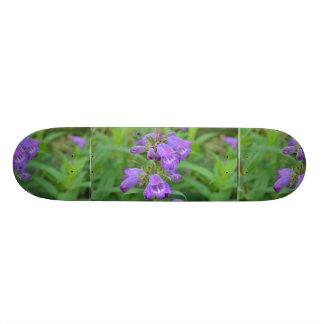 Pretty Purple Foxglove Skate Board