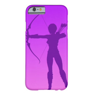 Pretty Purple Girl Archer Barely There iPhone 6 Case