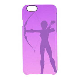 Pretty Purple Girl Archer Clear iPhone 6/6S Case