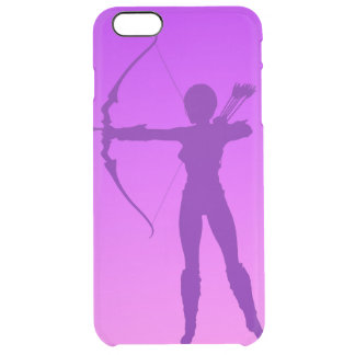 Pretty Purple Girl Archer Clear iPhone 6 Plus Case