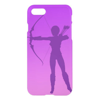 Pretty Purple Girl Archer iPhone 7 Case