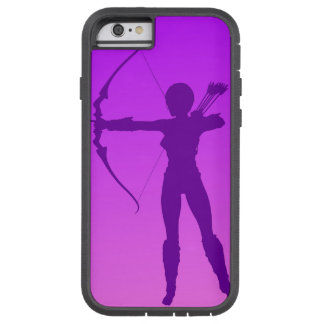 Pretty Purple Girl Archer Tough Xtreme iPhone 6 Case