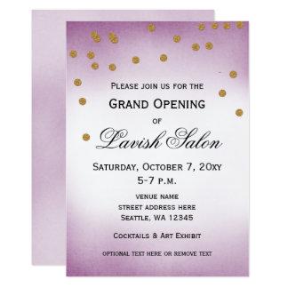 Pretty Purple Grand Opening Party Invitation