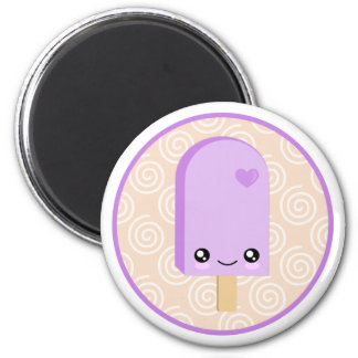 Pretty Purple Grape Popsicle Kawaii Magnet