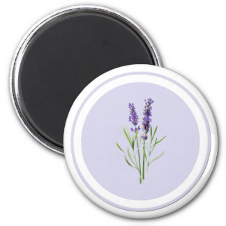 Pretty Purple Lavender Flowers Magnet