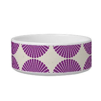 Pretty Purple Lilac Circles Disks Textured Buttons Pet Food Bowl