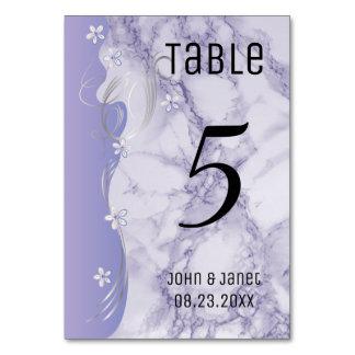 Pretty Purple Marble Design Table Card