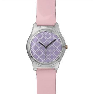 Pretty Purple Moroccan Pattern Watch