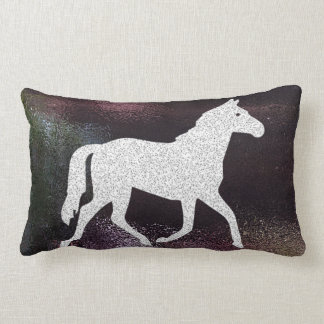 Pretty Purple Shimmering Horse Pillow