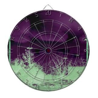 Pretty purple sky dart boards