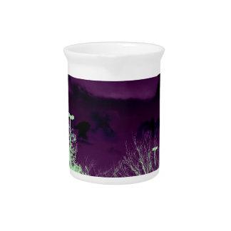 Pretty purple sky pitcher