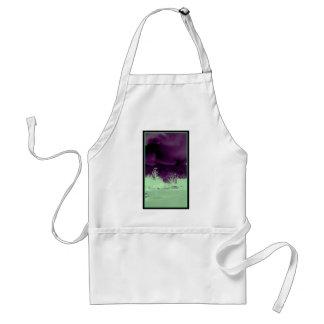 Pretty purple sky standard apron