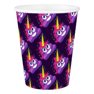 Pretty Purple Unicorn Poo Emoji Paper Cup