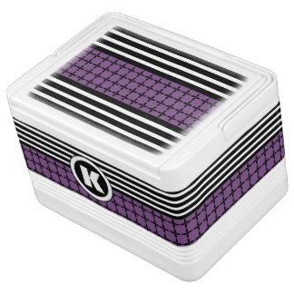 Pretty Purple, White & Black w/Monogram