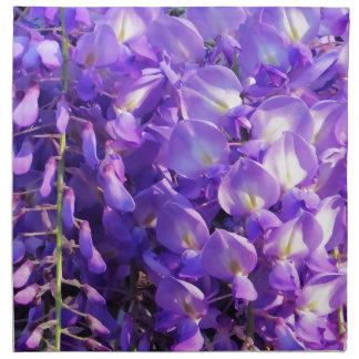 Pretty purple Wisteria flowers Napkin