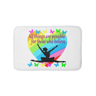 PRETTY RAINBOW ALL THINGS ARE POSSIBLE BALLERINA BATH MAT