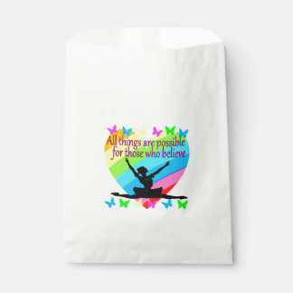 PRETTY RAINBOW ALL THINGS ARE POSSIBLE BALLERINA FAVOUR BAG