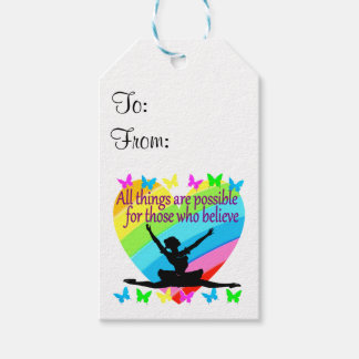 PRETTY RAINBOW ALL THINGS ARE POSSIBLE BALLERINA PACK OF GIFT TAGS