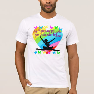 PRETTY RAINBOW ALL THINGS ARE POSSIBLE BALLERINA T-Shirt