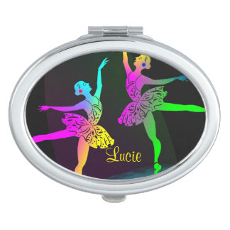 Pretty Rainbow Ballet Dancers Makeup Mirror