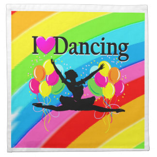 PRETTY RAINBOW I LOVE DANCING PARTY GOODS CLOTH NAPKIN