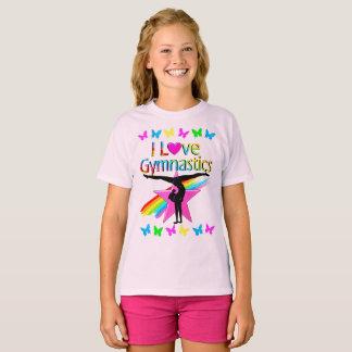 PRETTY RAINBOW I LOVE GYMNASTICS DESIGN T-Shirt