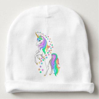 Pretty Rearing Rainbow Unicorn Falling Stars Baby Beanie