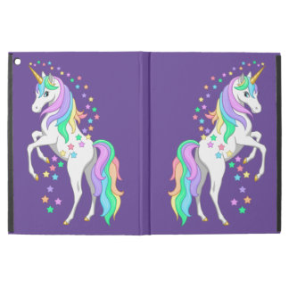 "Pretty Rearing Rainbow Unicorn Falling Stars iPad Pro 12.9"" Case"