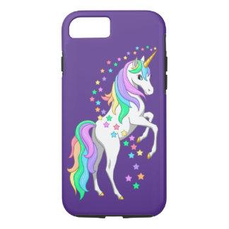 Pretty Rearing Rainbow Unicorn Falling Stars iPhone 8/7 Case