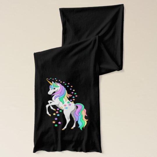 Pretty Rearing Rainbow Unicorn Falling Stars Scarves