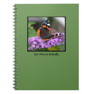 Pretty Red Admiral Butterfly Notebook