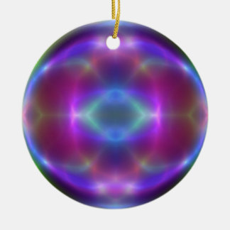 Pretty Red Blue Purple Abstract Christmas Ornament
