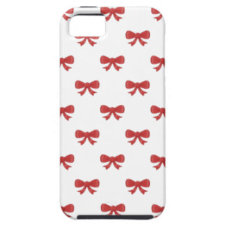 Pretty red bow pattern. iPhone 5 cases