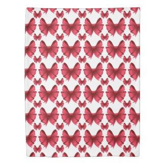 Pretty Red Bows Duvet Cover