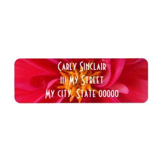 Pretty Red Dahlia Return Address Label