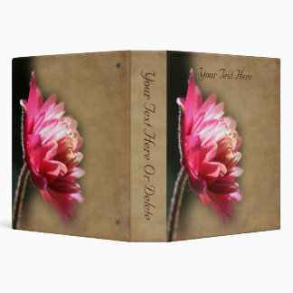 Pretty Red Flower Nature Binders
