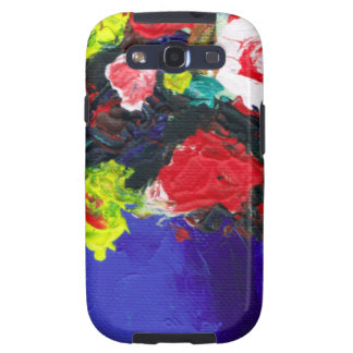 Pretty Red Flowers floral abstract painting Samsung Galaxy S3 Cases