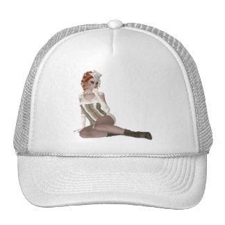 Pretty Red Head Woman Trucker Hat