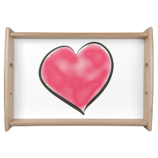Pretty Red Heart Serving Tray