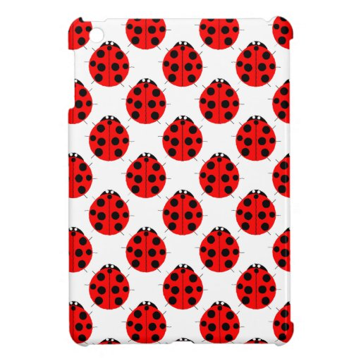 Pretty Red Ladybug Designer iPad Mini Case