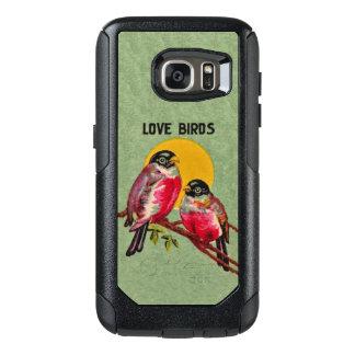Pretty Red Love Birds Tree Branch Yellow Sun OtterBox Samsung Galaxy S7 Case