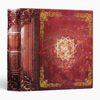 Pretty Red Magic Star Ancient Tome Vinyl Binder