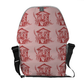Pretty Red Nativity Commuter Bag