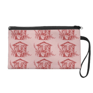 Pretty Red Nativity Wristlet