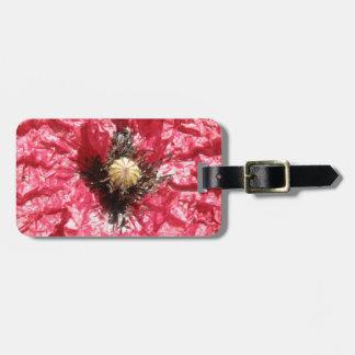 Pretty Red Poppy Flower Macro Custom Luggage Tag