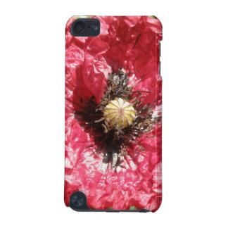 Pretty Red Poppy Flower Macro iPod Case