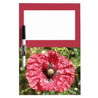 Pretty Red Poppy Flower Macro Memo Board