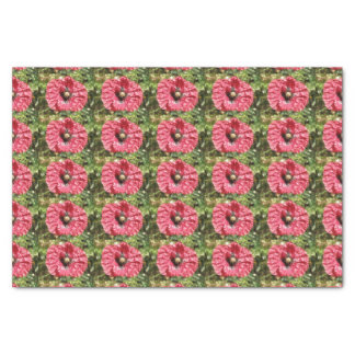 Pretty Red Poppy Flower Macro Tissue Paper