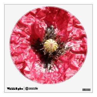 Pretty Red Poppy Flower Macro Wall Decal
